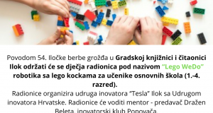 """Prijava za radionicu """"Lego Wedo"""""""